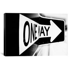 Which Way (One Way) by Bob Larson Gallery Wrapped Canvas Artwork