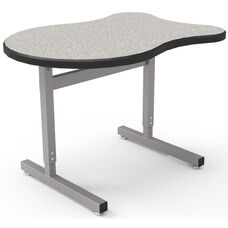 Une-T Adapt Adjustable Height Desk with Beveled Lotz Armor Edge Top - 36