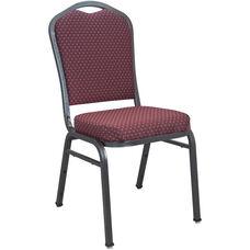 Advantage Premium Burgundy-patterned Crown Back Banquet Chair - Silver Vein