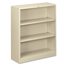 The HON Company Heavy Duty Metal Bookcase - Putty