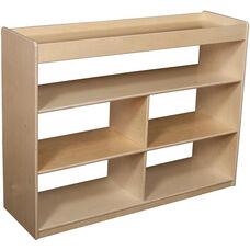 Wooden Mobile 3 Shelf Backless Storage Unit - 48