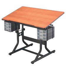 CraftMaster Art and Hobby Steel Frame Angled Wood Top Table - 40