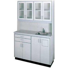 Pro-Line™ Professional Free-Standing Unit with Sink - Folkstone Gray Laminate