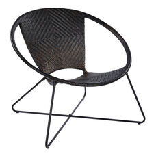 Inspired By Bassett Navarre Lounge Chair - Black Fade with Black Frame