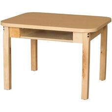 Classroom High Pressure Laminate Desk with Hardwood Legs - 24