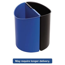 Safco® Desk-Side Recycling Receptacle - 7gal - Black and Blue