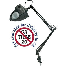 Magnifier Swing-Arm Metal Lamp - Black