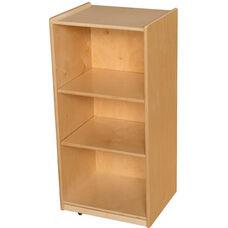 Wooden 3 Shelf Storage Unit with 2 Adjustable Shelves - 18