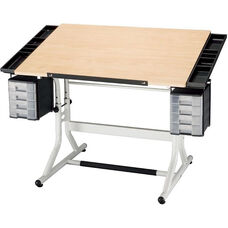 CraftMaster II Deluxe Art, Drawing, and Hobby Table - Maple Top