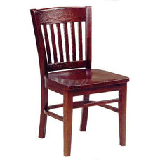 1991 Side Chair with Wood Seat