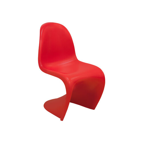 Our Trendy S Shape Stackable Matte Red Chair is on sale now.