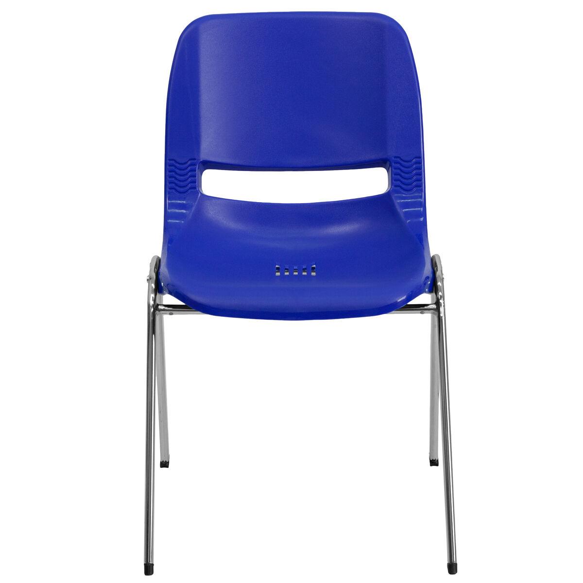 Tobago Stacking Chair Brown Chrome: HERCULES Series 880 Lb. Capacity Navy Ergonomic Shell