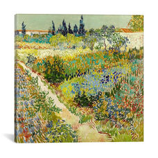 The Garden at Arles by Vincent van Gogh Gallery Wrapped Canvas Artwork