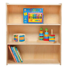 Three Shelf Baltic Birch Plywood Bookshelf with Tuff-Gloss UV Finish - Assembled - 30