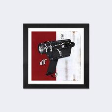 Super 8 by Famous When Dead Artwork on Fine Art Paper with Black Matte Hardwood Frame - 16