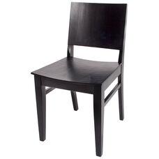 Dover Ebony Wood Chair - Wood Seat