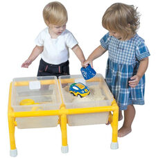 Mini Discovery Sand and Water Table with Removable Lightweight Low Profile Tubs - 18