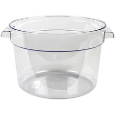 12 Quart Round Food Storage Container in Clear Polycarbonate