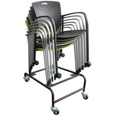 Staq Chair Dolly Stacks Ten Chairs High - Black