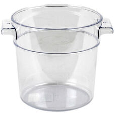1 Quart Round Food Storage Container in Clear Polycarbonate