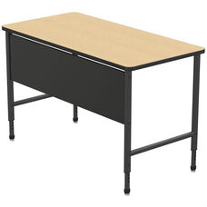 Apex Series Height Adjustable Stand Up Desk with PVC Edge - Sand Shoal Top with Black Edge and Legs - 60