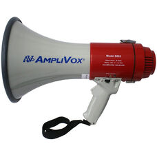 Mity-Meg 25 Watt Megaphone with Adjustable Volume and Battery Indicator - 8.25
