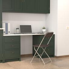HERCULES Series 650 lb. Capacity Premium Brown Plastic Folding Chair