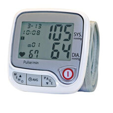 Advanced Wrist Blood Pressure Monitor with Irregular Heartbeat Detector