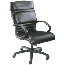 Quick Ship 1200 Series Executive Swivel Chair with Black Urethane Arms
