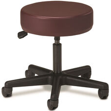 Pneumatic Adjustable Medical Stool - Burgundy with Black Base