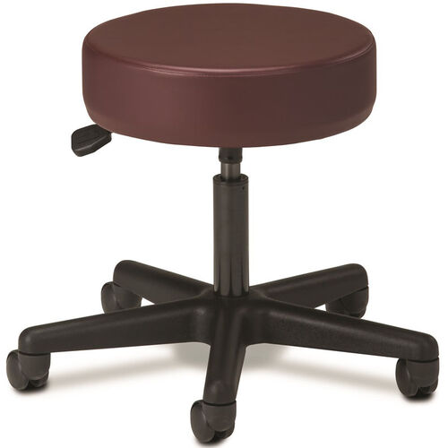 Our Pneumatic Adjustable Medical Stool - Burgundy with Black Base is on sale now.