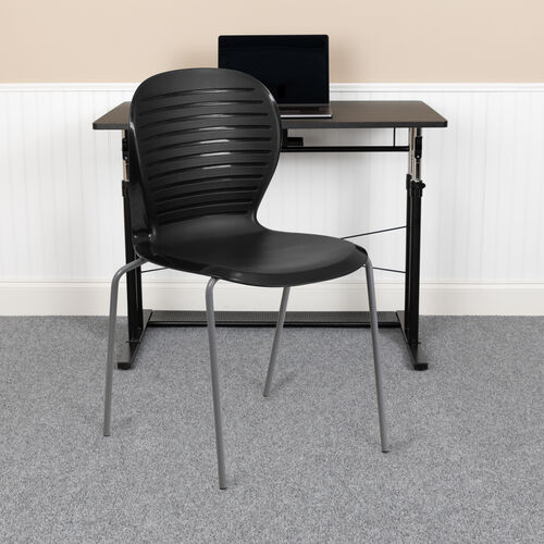 HERCULES Series 551 lb. Capacity Black Stack Chair