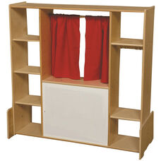 Wooden Theatre and Story Center with Red Curtains - 46.75