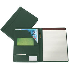 Writing Padfolio Document Organizer - Sedona New Bonded Leather - Green