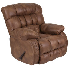 Contemporary Breathable Comfort Padre Almond Fabric Rocker Recliner