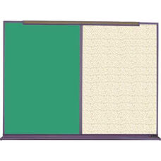 800 Series Aluminum Frame Combination Chalkboard and Tackboard - Fabricork - 48
