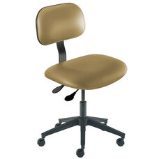 Quick Ship Bridgeport Series Chair with Adjustable Task Controls and Reinforced Composite Base - Low Seat Height