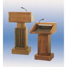 326 Series Adjustable Height Wooden Lectern - Medium Oak - 29