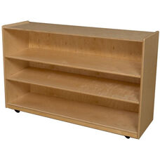 Wooden Mobile 3 Shelf Storage Unit - 48