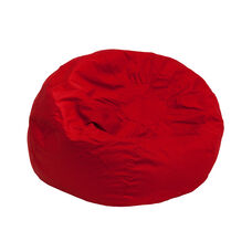 Small Solid Red Bean Bag Chair for Kids and Teens