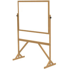 Reversible Double Sided Non-Magnetic White Board with Wooden Frame - 73.5