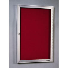 440 Series Aluminum Frame Directory Cabinet with 1 Locking Tempered Glass Door - 24