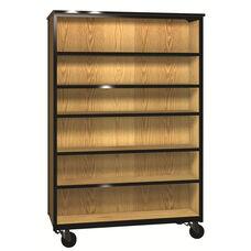 Denali 1000 Series Double-Faced Bookcase w/ 10 Adjustable Shelves