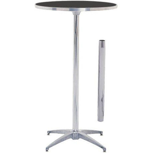 Our Standard Series Round Pedestal Table with Height Adjustable Columns, Chrome Plated Steel Column, and Laminate Top - 24