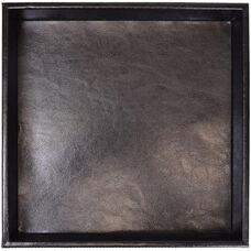 Executive Desktop Organizer Tray - Aristo Bonded Leather - Black