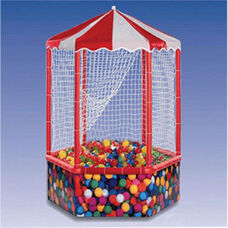 Sensory Ball Environment with Nylon Netting and 1,000 Multicolored 4