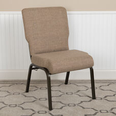 Advantage 20.5 in. Mixed Tan Molded Foam Church Chair