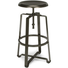 Endure Tall Metal Stool - Dark Vein Seat and Legs