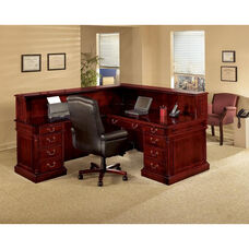 Keswick Right Reception L Desk - English Cherry