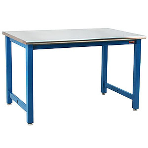 Our Premium 6,600 lb Capacity Grade 304 Stainless Steel Top Table Production Bench - 30
